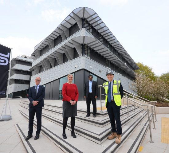 Bowmer and Kirkland hand over the keys to Space Park Leicester