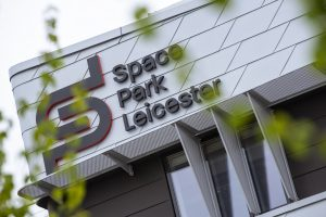 Space Park Leicester building sign